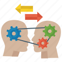 business knowledge, education concept, information sharing, knowledge exchange, knowledge transfer icon