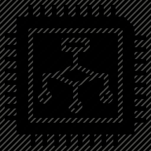 ai, algorithm, artificial, chip, intelligence icon