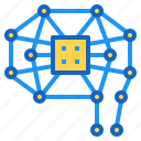 ai, artificial, brain, chip, intelligence icon
