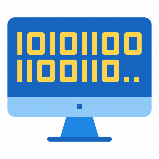 artificial, binary, code, coding, intelligence icon