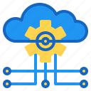 ai, artificial, cloud, database, intelligence icon