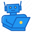 ai, artificial, intelligence, laptop, robot