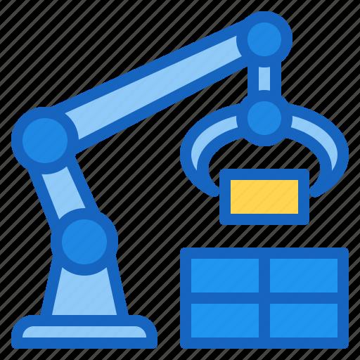 ai, arm, artificial, intelligence, robotic icon