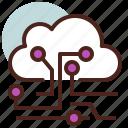 cloud, future, information, smart, tech icon