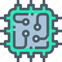 computer, connect, cpu, data, technology icon