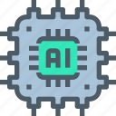 artificial, computer, hardware, intelligence, technology icon