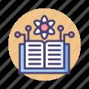 ai, book, knowledge, science, scientific icon