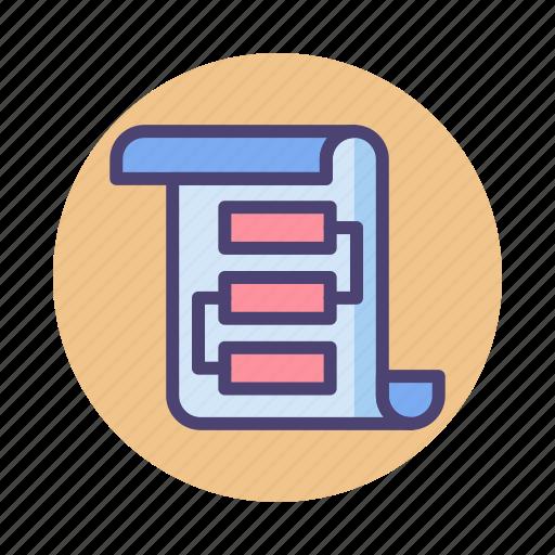 algorithm, flowchart, formula, formulae, process, workflow icon