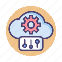 cloud, control, panel, settings icon