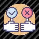 decision, vote, voting icon