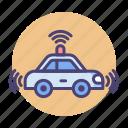 car, driverless, tesla, driving, self icon