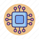 cpu, device, embedded, microchip, processor, tracker icon