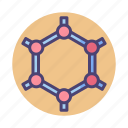 graphene, hexagon, hexagonal, interface icon