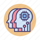 agents, intelligent, intelligent agents, smart agents, smart assistants, virtual assistants icon