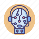 ai, assistant, intelligent, robot, smart icon