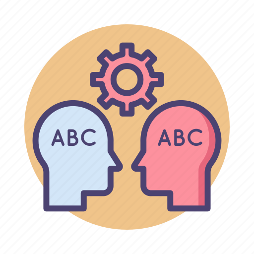 language, natural, processing icon