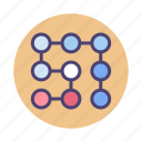 lock, pattern, recognition icon