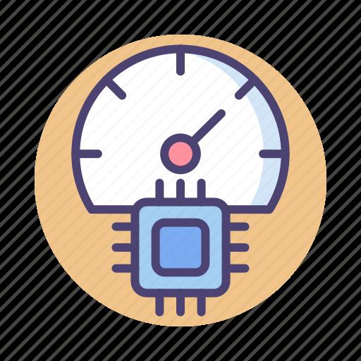 gauge, meter, performance, speed icon