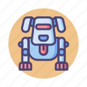 dog, pet, robot, robotic icon