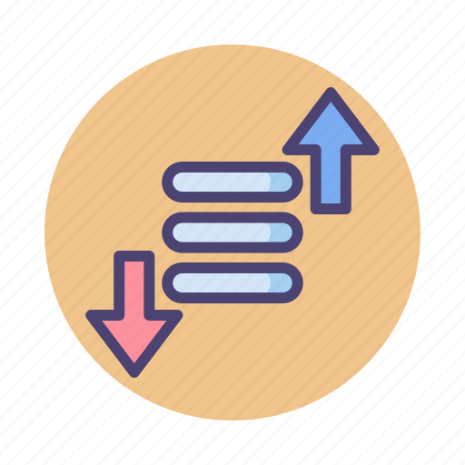 arrange, filter, prioritize, priority, sort icon