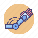 motor, robot arm, robotic, robotic arm, sensory, sensory motor skills, skills icon