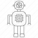 artificial, intelligence, robot, technology icon