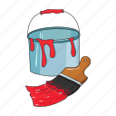 brush, bucket, enamel, paint, painting, smear, tool icon
