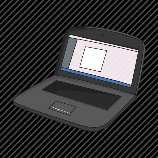 computer, design, draw, graphics, laptop, program, web icon