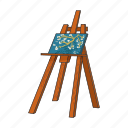 art, canvas, drawing, easel, equipment, painting, stand icon