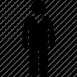 male, man, v-neck shirt icon
