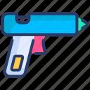 glue gun, glue stick, hardware, hot glue gun, soldering, soldering gun, stick gun icon
