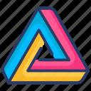 3d, creative, line, logo, shape, triangle