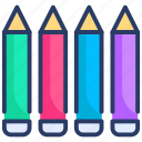 art, color, draw, pencil, pencils, write icon