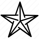 origami, paper, star icon