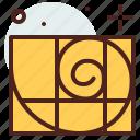 art, fibonacci, hobby, sequence icon