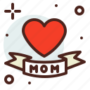 art, heart, hobby, mom, tatoo icon