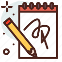 art, hobby, notebook icon