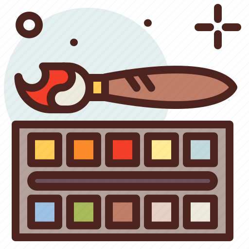 Art, colors, hobby, paint, watercolor icon - Download on Iconfinder