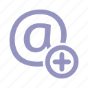 add, email, mail, plus icon