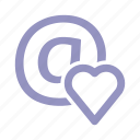 email, heart, love icon