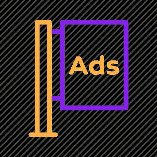 Ads, advertisement, advertising, billboard, marketing, promotion icon - Download on Iconfinder