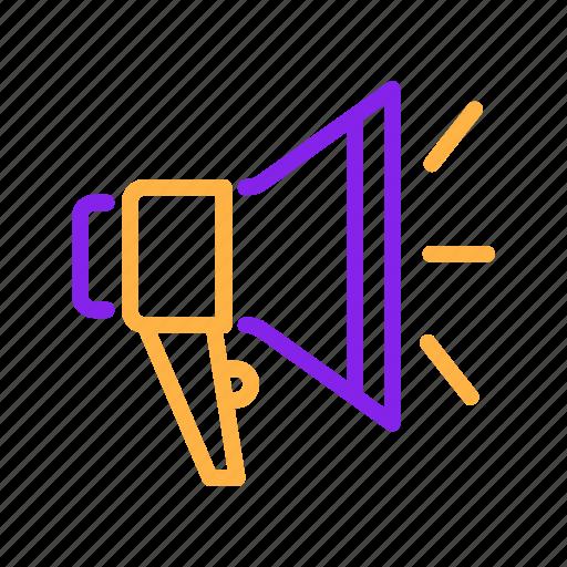 Advertisement, advertising, announcement, loudspeaker, megaphone, promotion, speaker icon - Download on Iconfinder