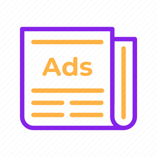 Ads, advertisement, advertising, article, newspaper, promotion icon - Download on Iconfinder