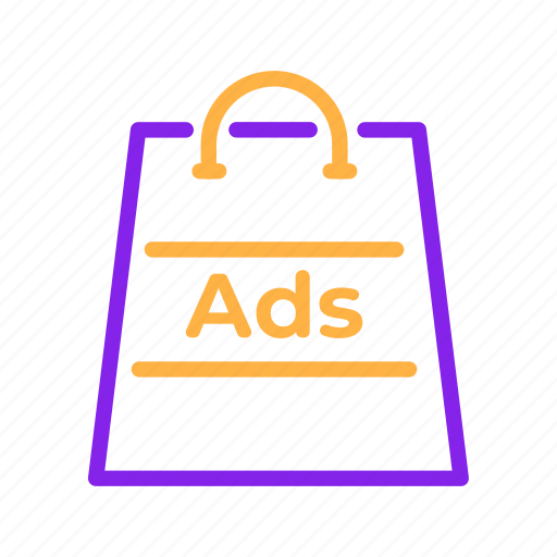Ads, advertisement, advertising, bag, sale, shopping, store icon - Download on Iconfinder
