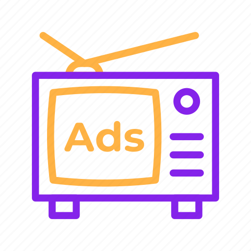 Ads, advertisement, advertising, marketing, media, television, tv icon - Download on Iconfinder