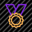 award, baseball, gold, medal, sport, winner icon