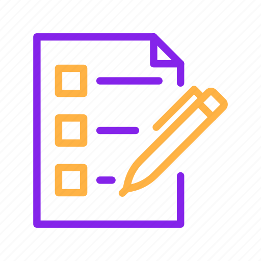 business, document, list, paper, pen, report icon