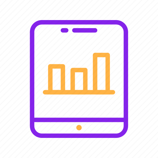 chart, device, graph, mobile, report, smartphone, statistic icon