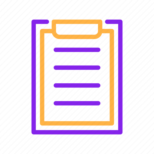 board, business, document, paper, report icon