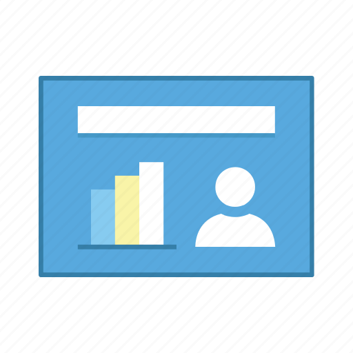 layout, people, presentation, statistic, template, ui, user interface icon